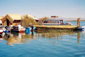 En af øerne i Titicaca Søen