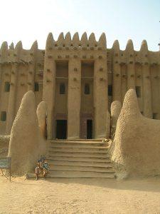 Indgang til den store moske i Djenné